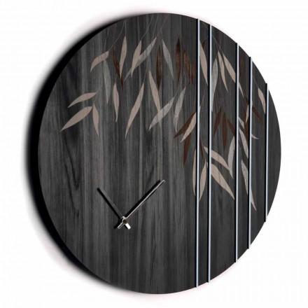 Zegar ścienny z drewna dębowego lub okrągłej tablicy grawerowanej laserowo - Kanno
