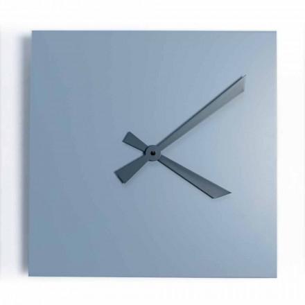 Przemysłowy i nowoczesny kwadratowy zegar ścienny o włoskim designie - Titan