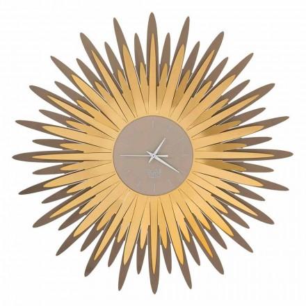 Nowoczesny zegar ścienny o żelaznym kształcie wykonany w Made in Italy - Fuoco