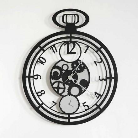 Nowoczesny okrągły zegar ścienny z kolorowego żelaza Made in Italy - Cherry