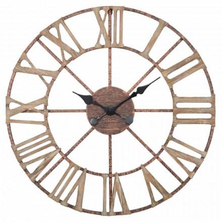 Nowoczesny zegar ścienny o średnicy 71,5 cm z żelaza i MDF - Carcans