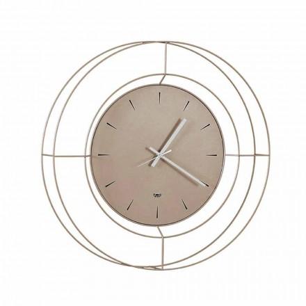 Nowoczesny zegar ścienny z kolorowej stali Made in Italy - Adalgiso