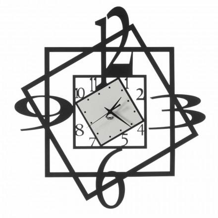 Nowoczesny żelazny zegar ścienny o geometrycznym wzorze Made in Italy - Procida