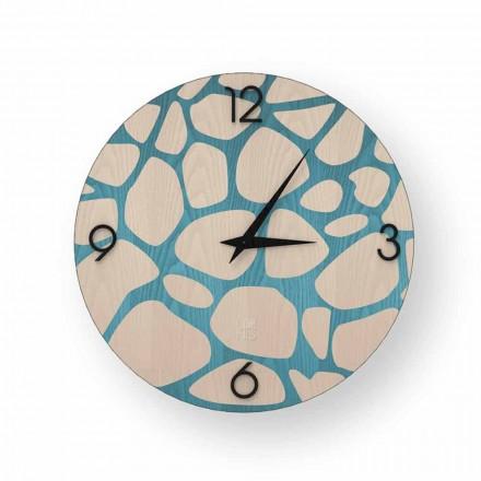 Zegar ściana nowoczesny z drewna Morolo, produkt włoski