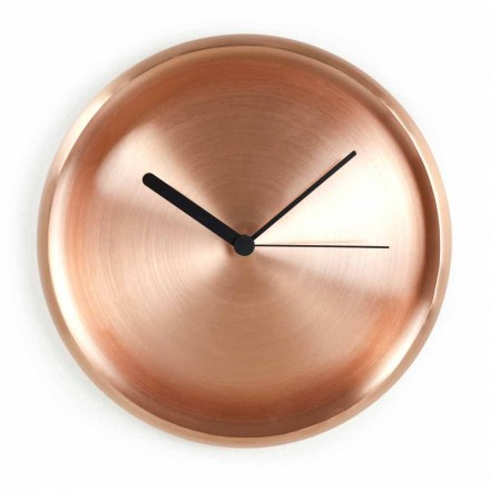 Okrągły zegar ścienny z polerowanej miedzi Made in Italy - Ogio