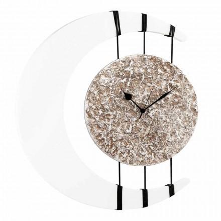 Zegar ścienny w kształcie księżyca Jilly, wykonany we Włoszech, centralny element do zawieszania