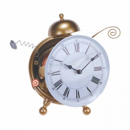 Nowoczesny zegar stołowy z żywicy Made in Italy - Rex