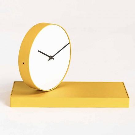Obrotowy zegar stołowy ze stalowym lustrem Made in Italy - Meritorious