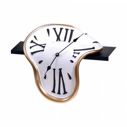 Zegar stołowy z ręcznie zdobionej żywicy Made in Italy - Corin