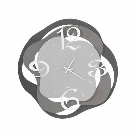 Zegar ścienny nowoczesny design z żelaza Wykonany we Włoszech - Gertrude