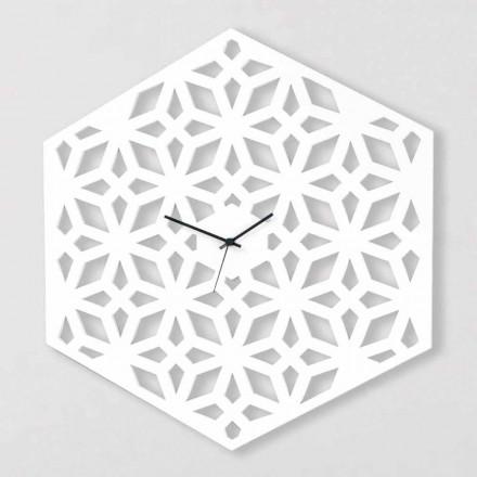 Duży Zegar Ścienny w Białym Dove-Grey lub Zielonym Drewnie Design - Tarto
