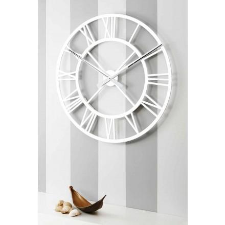 Duży zegar ścienny Shabby Chic z drewna Vintage Design - Arrigo