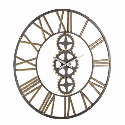 Duży zegar ścienny w stylu vintage ze stali Homemotion - maj