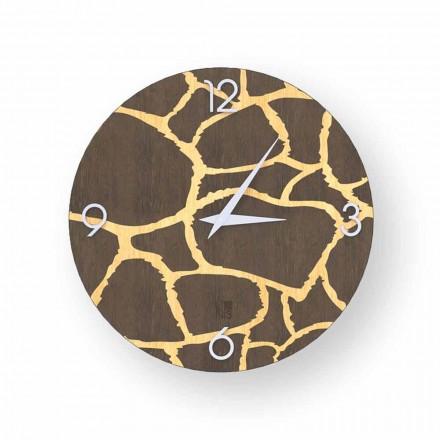 Zegar drewno na ścianę Acri, nownoczesny design, made in Italy