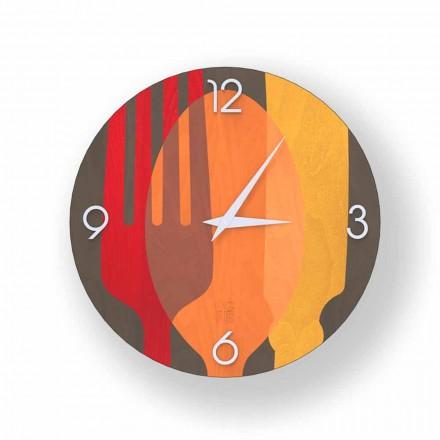 Zegar drewniany ściana Agra, design nowoczesny, made in Italy