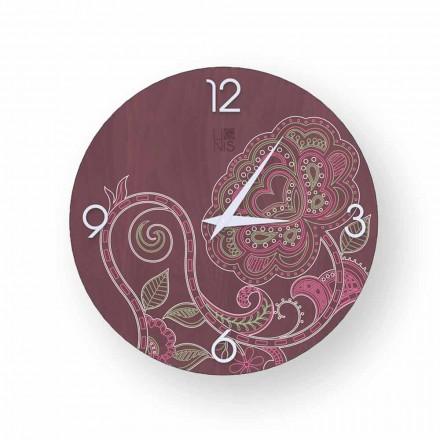Zegar drewno dekowacja Dolo, nowoczesny design made in Italy