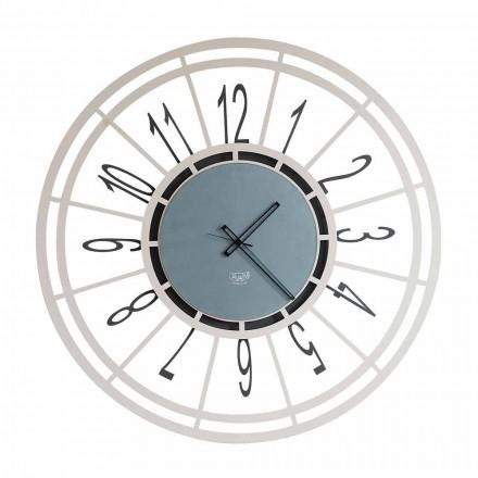 Nowoczesny zegar ścienny w kolorze żelaznego orzecha laskowego lub czarnego Made in Italy - Topino