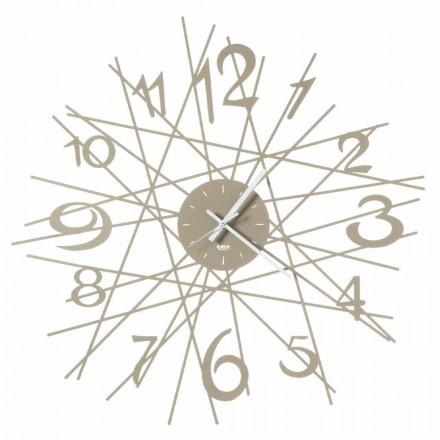 Okrągły zegar ścienny z żelaza, wykonany we Włoszech - Kombo