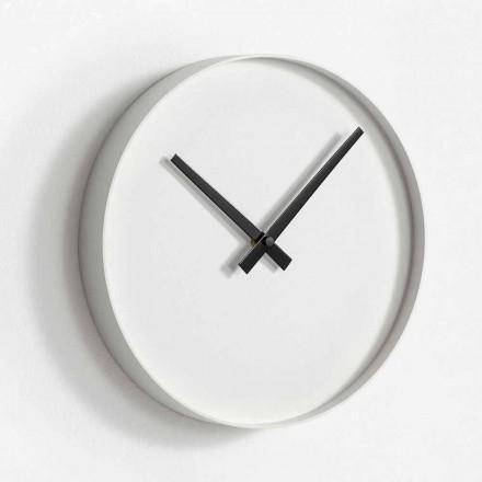Okrągły zegar ścienny z matowego malowanego metalu - Orogio