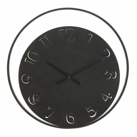 Okrągły zegar ścienny o średnicy 60 cm, nowoczesny z żelaza - Beatrix