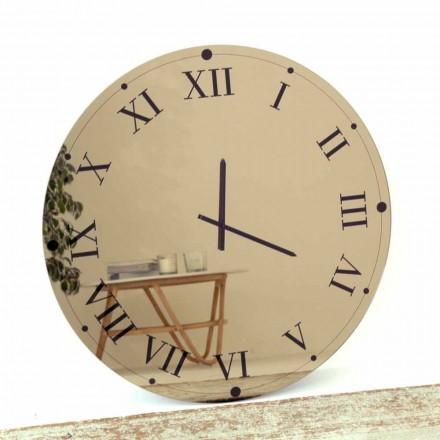 Okrągły zegar ścienny z lustrzanego kryształu Made in Italy - Gear