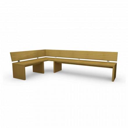 Narożnikowa ławka design z dębu, made in Italy, Candy