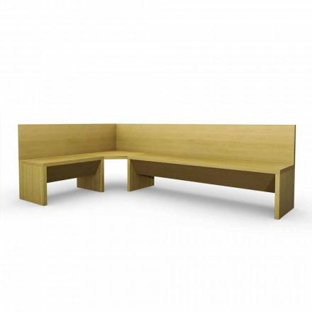 Narożna ława z drewna dębowego z nowoczesnym wzornictwem Pojemnik Cassy