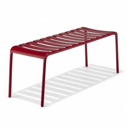 Niska ławka z aluminium malowanego na zewnątrz, wyprodukowana we Włoszech - Sybella