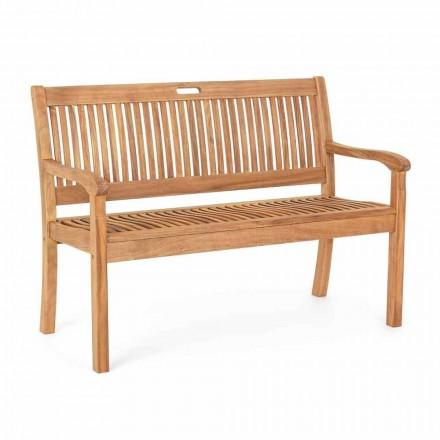 Ławka ogrodowa z drewna akacjowego do projektowania 2 lub 3 osobowego na zewnątrz - Roxen