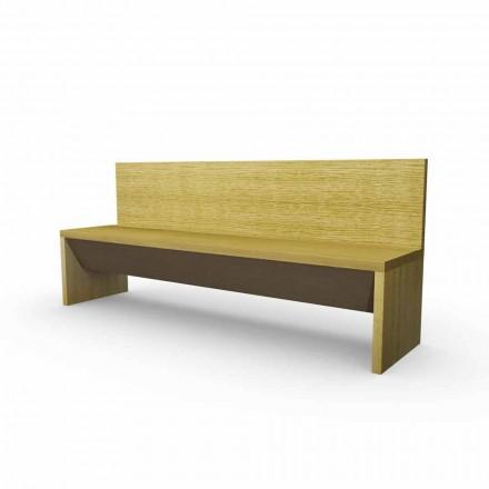 Nowoczesna ławka z pojemnikiem z drewna dębowego, wykonana we Włoszech, Cassy