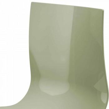 2 osobowa ławka biurowa ze stolikiem kawowym ze stali i kolorowego technopolimeru - Verenza