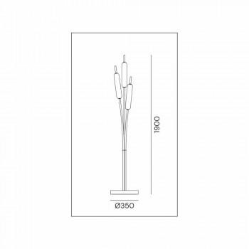 3-punktowa lampa podłogowa z mosiądzu i szkła Nowoczesny elegancki design - Typha od Il Fanale