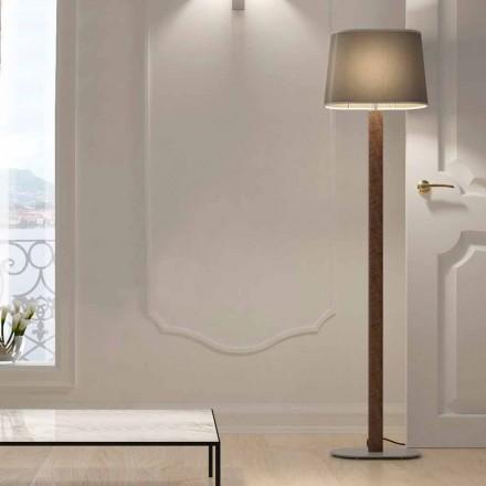 Nowoczesna lampa podłogowa z metalu z abażurem z tkaniny Made in Italy - Jump