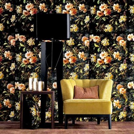 Lampa podlogowa z drewna i materialu design Grilli Zarafa made in Italy
