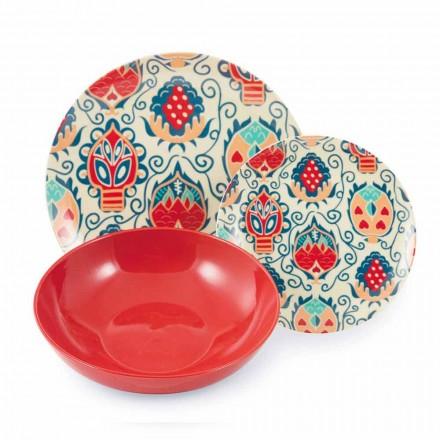 Kolorowe płytki projektowe w serwisie porcelany 18 sztuk - Zambia