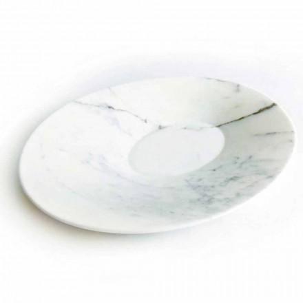 Nowoczesna płyta centralna z białego marmuru z Carrary Made in Italy - Miccio