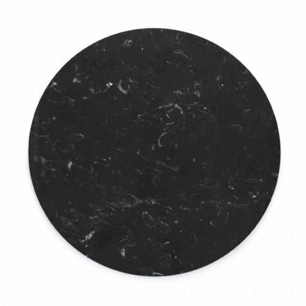 Okrągły talerz serowy z białego lub czarnego marmuru Made in Italy - Kirby