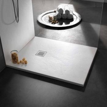 Brodzik 100x80 w wykończeniu z efektem żywicy kamienia Nowoczesny design - Domio