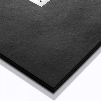 Brodzik 120x70 Nowoczesny design z wykończeniem z efektem żywicy kamienia - Domio