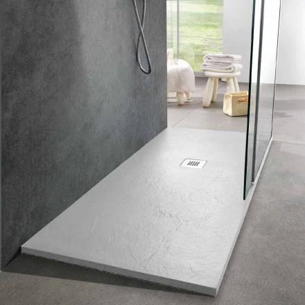 Brodzik prysznicowy Modern Design 160x80 z wykończeniem Resin Slate Effect - Sommo