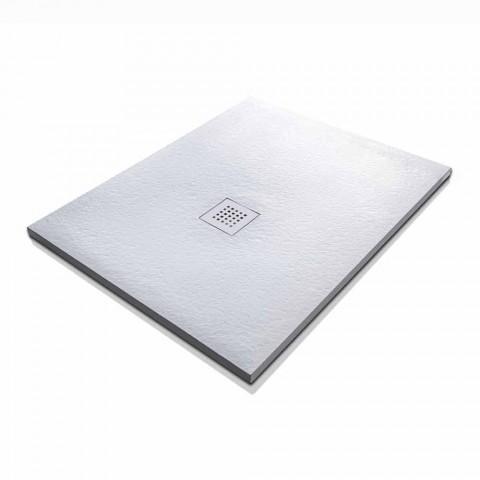 Brodzik Design imitujący kamień żywiczny 100x70 - Domio