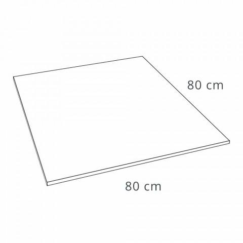 Brodzik kwadratowy 80x80 o efekcie żywicy betonowej w nowoczesnym stylu - Cupio