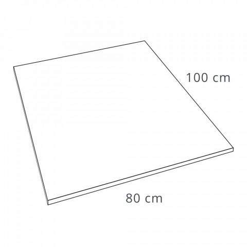 Brodzik prostokątny 100x80 z efektem białej żywicy łupkowej - Sommo