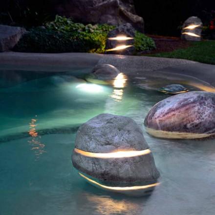 Lampa z kamienia naturalnego Led Twice, produkt unikalny