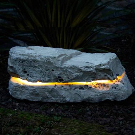 Lampa z kamienia naturalnego z dyfuzorem dźwięku, Sound