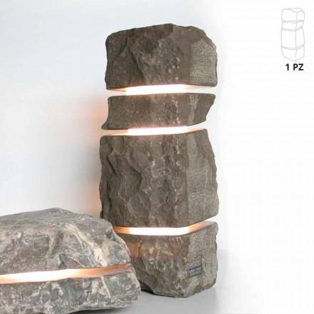 Lampa z kamienia naturalnego  Fior di Pesco Carnico, model Stonehenge