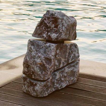 Lampa z kamienia naturalnego LED Cross, produkt unikalny