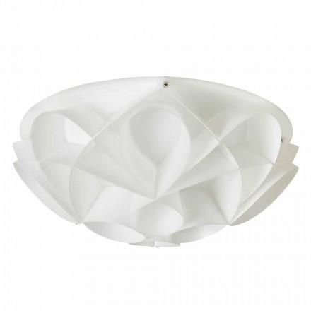 Lampa sufitowa biała design średnica 43 cm Lena