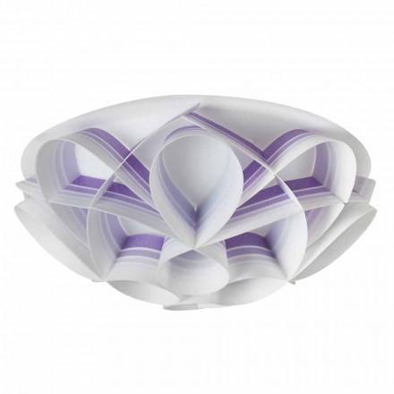 Lampa sufitowa biała design średnica 43 cm Lena, made in Italy