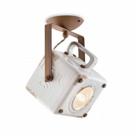 Lampa sufitowa reflektor kwadratowy regulowany Kaylee Ferroluce